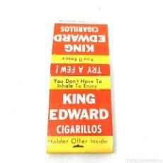Cajas de Cerillas: (CAZ1) CAJA CERILLAS PUBLICITARIA - KING EDWARD CIGARRILLOS. Lote 179549650