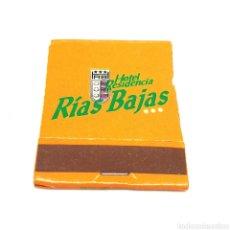 Cajas de Cerillas: (CAZ1) CAJA CERILLAS PUBLICITARIA - HOTEL RESIDENCIA RIAS BAJAS. Lote 179549925
