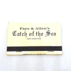 Cajas de Cerillas: (CAZ1) CAJA CERILLAS PUBLICITARIA - FAYE & ALLEN'S. CATCH OF THE SEA. Lote 179550078