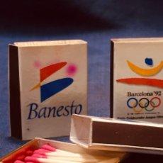 Cajas de Cerillas: 6 CAJAS CERILLAS BANESTO JUEGOS OLIMPICOS BARCELONA 92 . Lote 180124832