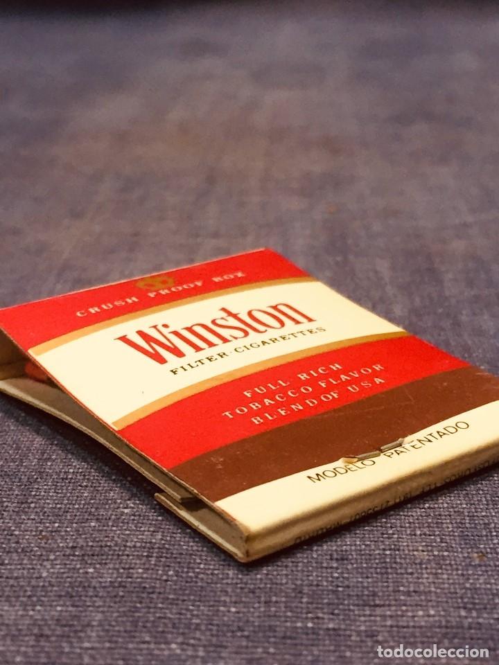 Cajas de Cerillas: CAJA CERILLAS WINSTON ANVERSO PUBLICIDAD CLUB 31 - Foto 8 - 180125461