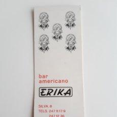 Cajas de Cerillas: CARTERITA CERILLAS - BAR AMERICANO ERIKA ( MADRID ). PERFECTA!!. Lote 149489754