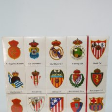 Cajas de Cerillas: COLECCION COMPLETA CAJAS DE CERILLAS LIGA CALENDARIO 1981 1982. Lote 180331281