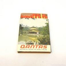 Cajas de Cerillas: (C-23) CAJA CERILLAS PUBLICITARIA - QANTAS - AUSTRALIA'S ROUND. Lote 180431456