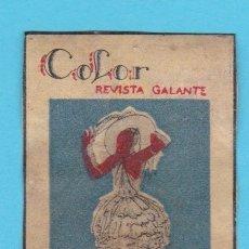 Cajas de Cerillas: COLOR REVISTA GALANTE. CROMO PUBLICITARIO DE CAJA DE CERILLAS. AÑOS 20. Lote 180453045