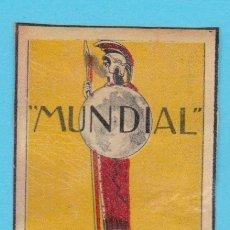 Cajas de Cerillas: MUNDIAL, REVISTA SEMANAL ILUSTRADA. CROMO PUBLICITARIO DE CAJA DE CERILLAS. AÑOS 20. Lote 180454676