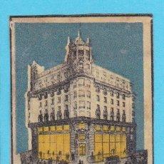 Cajas de Cerillas: PALACIO DEL LIBRO, COMPAÑÍA ANÓNIMA CALPE, MADRID. CROMO PUBLICITARIO DE CAJA DE CERILLAS. AÑOS 20. Lote 180455901