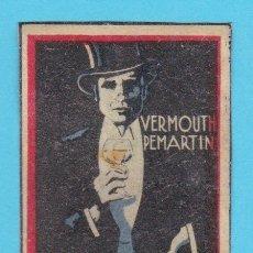 Cajas de Cerillas: VERMOUTH PEMARTIN. JEREZ. CROMO PUBLICITARIO DE CAJA DE CERILLAS. AÑOS 20. Lote 180842672