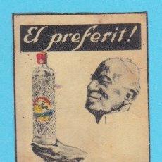 Cajas de Cerillas: ANÍS DEL CIERVO, SABADELL. CROMO PUBLICITARIO DE CAJA DE CERILLAS. AÑOS 20. Lote 180844090