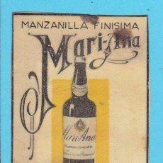 Cajas de Cerillas: MANZANILLA MARI-ANA. FLORIDO Y CIA. SANLÚCAR. CROMO PUBLICITARIO DE CAJA DE CERILLAS. 20'S. Lote 180849726
