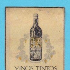 Cajas de Cerillas: VINOS TINTOS DE LOS HEREDEROS DEL MARQUÉS DE RISCAL. CROMO PUBLICITARIO DE CAJA DE CERILLAS. AÑOS 20. Lote 180855633
