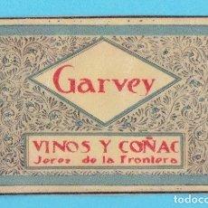 Cajas de Cerillas: GARVEY. VINOS Y COÑAC. JEREZ DE LA FRONTERA. CROMO PUBLICITARIO DE CAJA DE CERILLAS. AÑOS 20. Lote 180855842