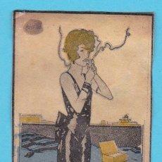 Cajas de Cerillas: NIKOLA, PAPEL DE FUMAR. CROMO PUBLICITARIO DE CAJA DE CERILLAS. AÑOS 20. Lote 180863226