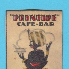 Cajas de Cerillas: PRÍNCIPE CAFÉ BAR, MADRID. CROMO PUBLICITARIO DE CAJA DE CERILLAS. AÑOS 20. Lote 180931881