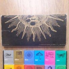 Cajas de Cerillas: ESTUCHE COMPLETO - 12 CAJAS CERILLAS - CALENDARIO 1969. Lote 181517683
