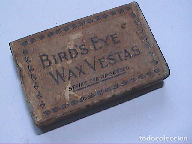 Cajas de Cerillas: ANTIGUA CAJA DE CERILLAS BRITÁNICA BIRDS EYE WAX VESTAS. 1861. BRYANT & MAY LTD. - Foto 2 - 183470780