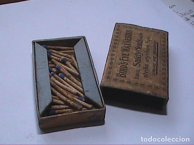 Cajas de Cerillas: ANTIGUA CAJA DE CERILLAS BRITÁNICA BIRDS EYE WAX VESTAS. 1861. BRYANT & MAY LTD. - Foto 4 - 183470780