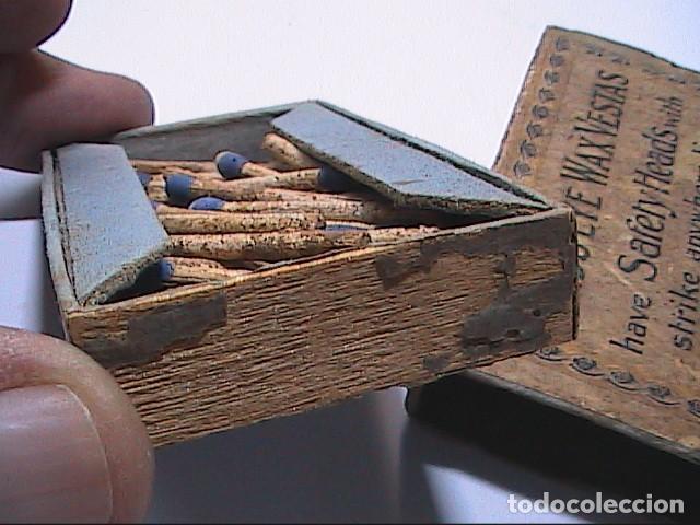 Cajas de Cerillas: ANTIGUA CAJA DE CERILLAS BRITÁNICA BIRDS EYE WAX VESTAS. 1861. BRYANT & MAY LTD. - Foto 5 - 183470780
