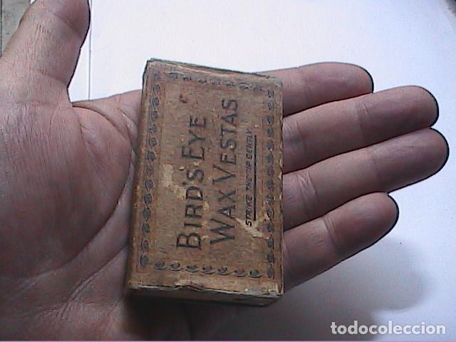 Cajas de Cerillas: ANTIGUA CAJA DE CERILLAS BRITÁNICA BIRDS EYE WAX VESTAS. 1861. BRYANT & MAY LTD. - Foto 9 - 183470780