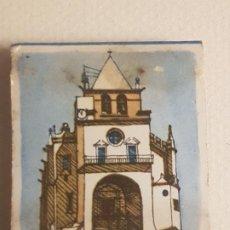 Cajas de Cerillas: ELVAS PORTUGAL IGLESIA PUBLICIDAD CAJA DE CERILLAS. Lote 183778716