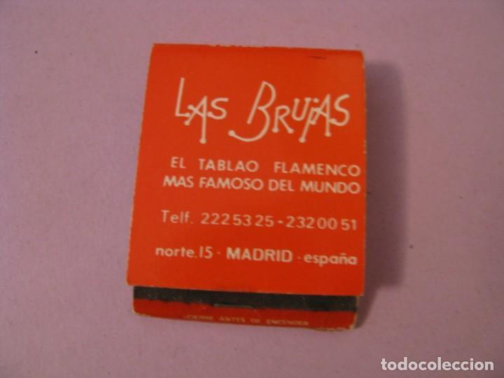 CERILLAS LAS BRUJAS. EL TABLAO FLAMENCO MAS FAMOSO DEL MUNDO. MADRID. (Coleccionismo - Objetos para Fumar - Cajas de Cerillas)