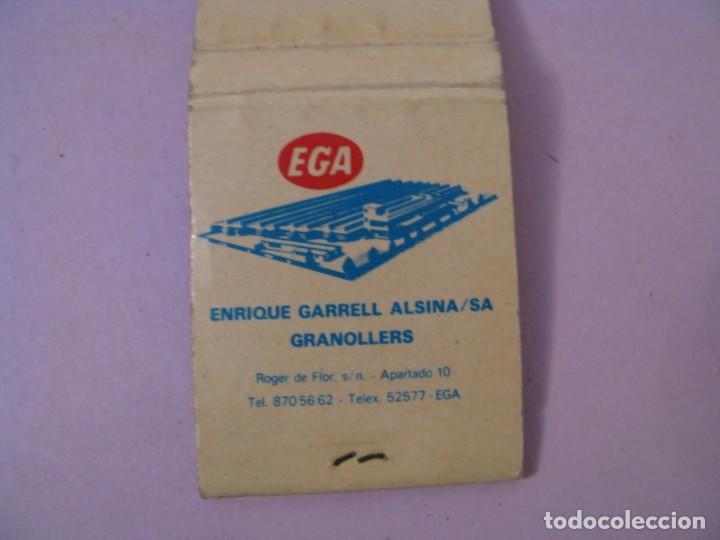 Cajas de Cerillas: CARTERITA DE CERILLAS. FPE EGA. ENRIQUE GARRELL ALSINA. GRANOLLERS - Foto 3 - 183855543