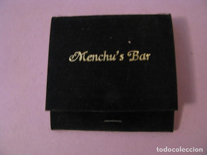 CARTERITA DE CERILLAS. MENCHU'S BAR. (Coleccionismo - Objetos para Fumar - Cajas de Cerillas)