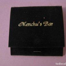 Cajas de Cerillas: CARTERITA DE CERILLAS. MENCHU'S BAR.. Lote 183855722
