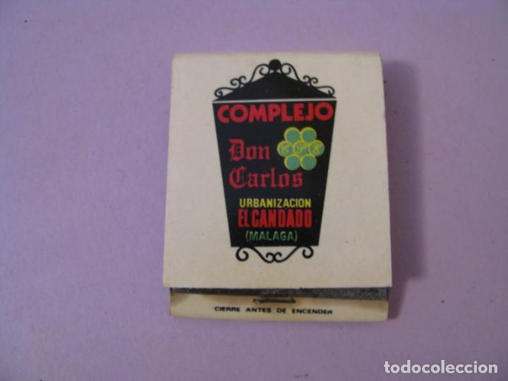 CARTERITA DE CERILLAS. COMPLEJO DON CARLOS. URBANIZACIÓN EL CANDADO. MÁLAGA. (Coleccionismo - Objetos para Fumar - Cajas de Cerillas)