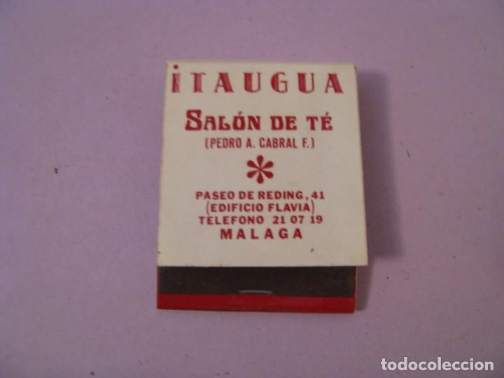 CARTERITA DE CERILLAS. SALON DE TE ITAUGUA. MÁLAGA. (Coleccionismo - Objetos para Fumar - Cajas de Cerillas)