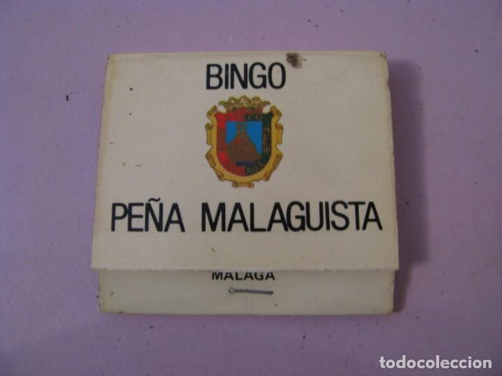 CARTERITA DE CERILLAS. BINGO PEÑA MALAGUISTA. MÁLAGA. (Coleccionismo - Objetos para Fumar - Cajas de Cerillas)
