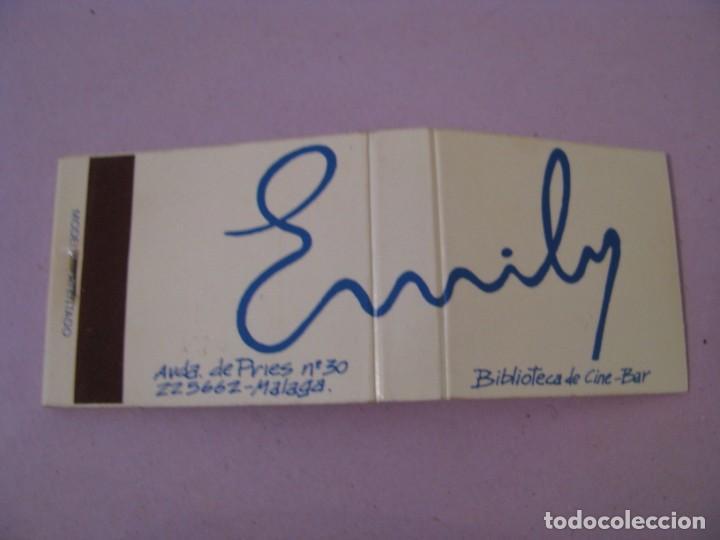 CARTERITA DE CERILLAS. EMILY. BIBLIOTECA DE CINE BAR. (Coleccionismo - Objetos para Fumar - Cajas de Cerillas)