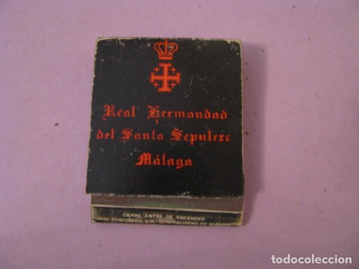 CERILLAS. REAL HERMANDAD DEL SANTO SEPULCRO. MÁLAGA. (Coleccionismo - Objetos para Fumar - Cajas de Cerillas)