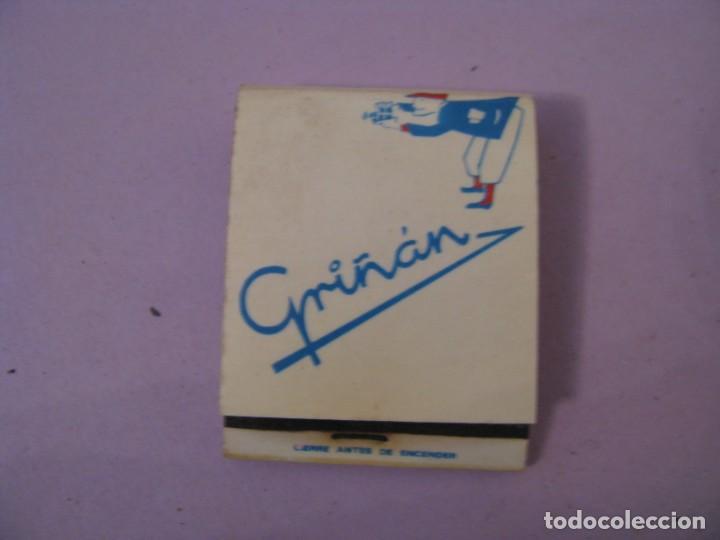 CERILLAS. GRIÑAN. FOTÓGRAFO. MALAGA. (Coleccionismo - Objetos para Fumar - Cajas de Cerillas)