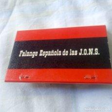 Cajas de Cerillas: CAJA DE CERILLAS, FALANGE ESPAÑOLA DE LAS JONS, VER FOTOS. Lote 184582640