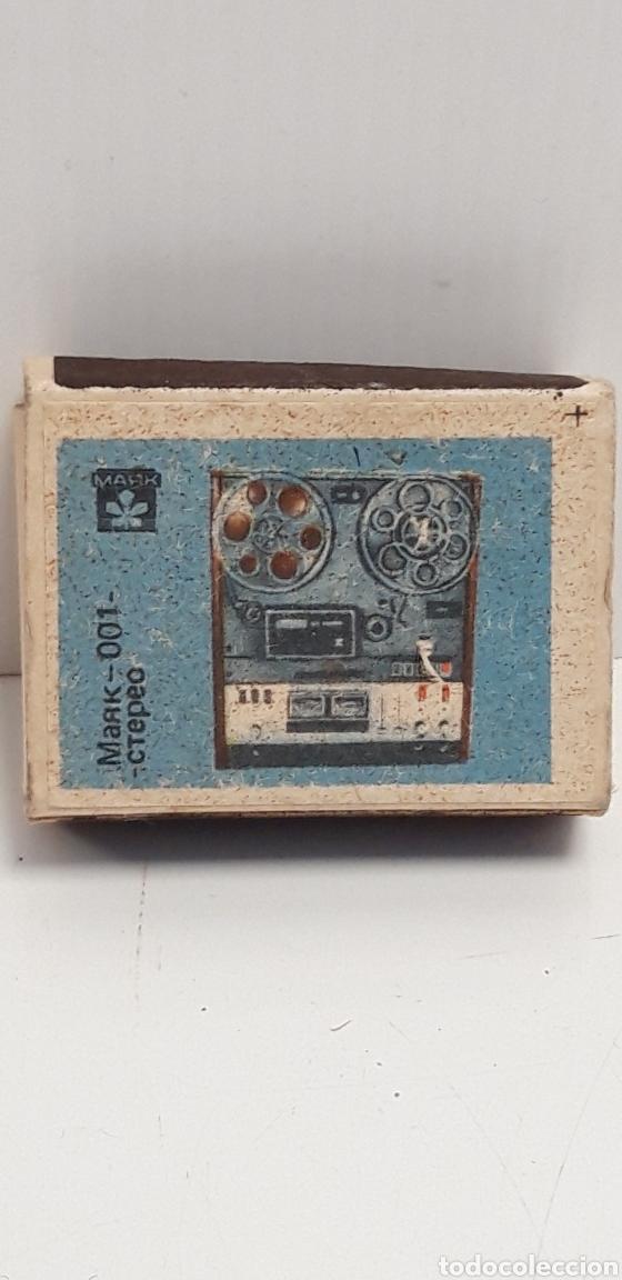 CAJA DE CERILLAS LLENA AÑOS 60 APARATO DE MUSICA (Coleccionismo - Objetos para Fumar - Cajas de Cerillas)