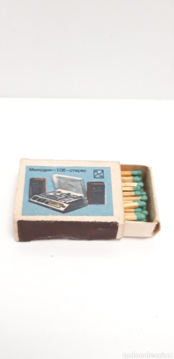 Cajas de Cerillas: CAJA DE CERILLAS LLENA AÑOS 60 APARATOS DE MUSICA - Foto 3 - 186063453