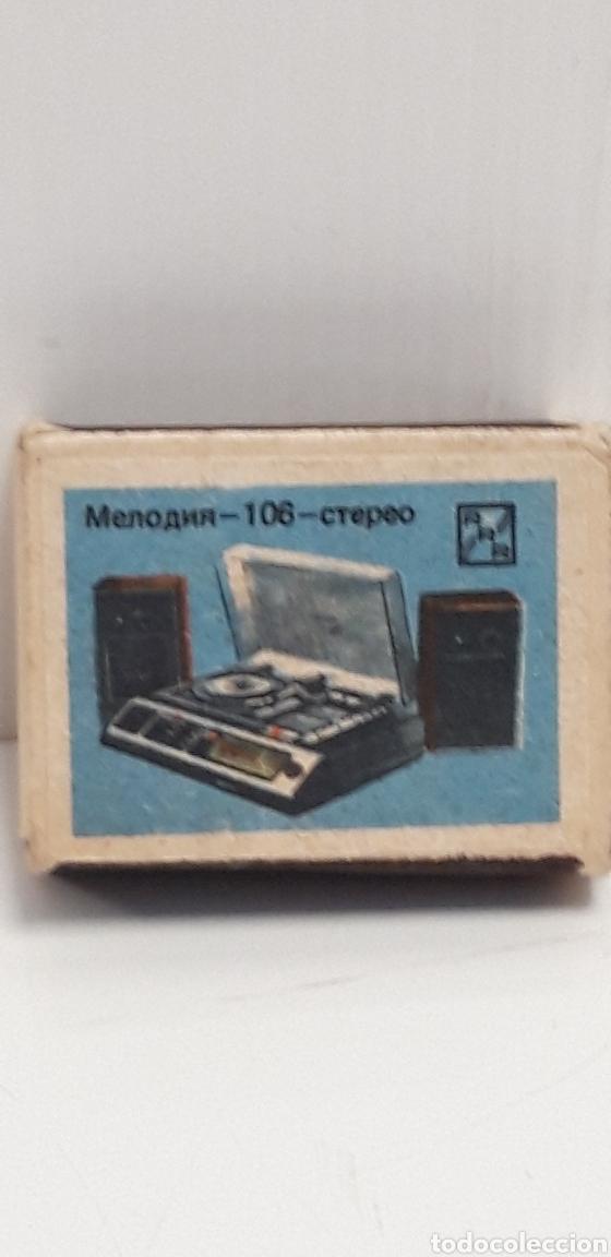 CAJA DE CERILLAS LLENA AÑOS 60 APARATOS DE MUSICA (Coleccionismo - Objetos para Fumar - Cajas de Cerillas)
