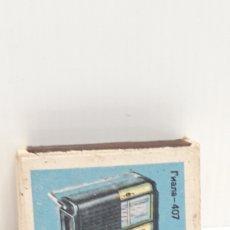 Cajas de Cerillas: CAJA DE CERILLAS LLENA AÑOS 60 APARATOS DE MUSICA. Lote 186063623