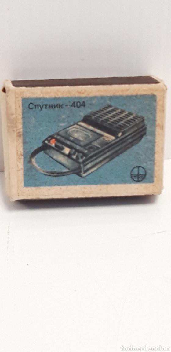 CAJA DE CERILLAS LLENA AÑOS 70 APARATOS DE MUSICA (Coleccionismo - Objetos para Fumar - Cajas de Cerillas)