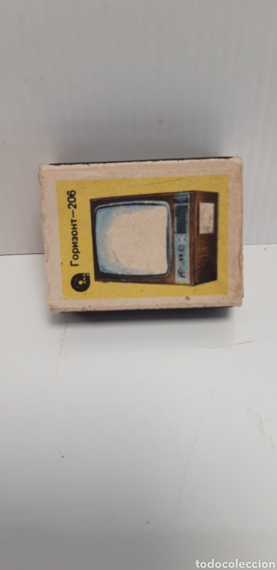 CAJA DE CERILLAS LLENA AÑOS 60 TELEVISOR (Coleccionismo - Objetos para Fumar - Cajas de Cerillas)