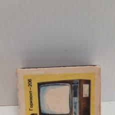 Cajas de Cerillas: CAJA DE CERILLAS LLENA AÑOS 60 TELEVISOR. Lote 186064576