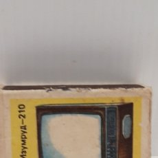 Cajas de Cerillas: CAJA DE CERILLAS LLENA AÑOS 60 TELEVISOR. Lote 186064770