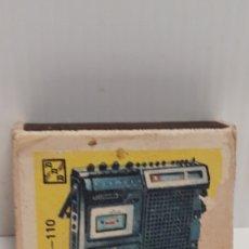 Cajas de Cerillas: CAJA DE CERILLAS AÑOS 60 APARATOS DE MUSICA. Lote 186065086