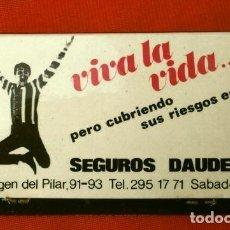Cajas de Cerillas: CAJA DE CERILLAS - PUBLICIDAD - SEGUROS DAUDER SABADELL (AÑOS 70) RARA-ESCASA . Lote 186431761