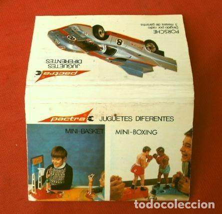 CAJA DE CERILLAS - PUBLICIDAD - JUGUETES PACTRA (AÑOS 70) PORSCHE (Coleccionismo - Objetos para Fumar - Cajas de Cerillas)