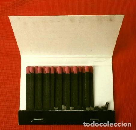 Cajas de Cerillas: Caja de cerillas - Publicidad - TUDOR (Años 70) Tudor va más lejos - Baterias - Foto 2 - 186435195