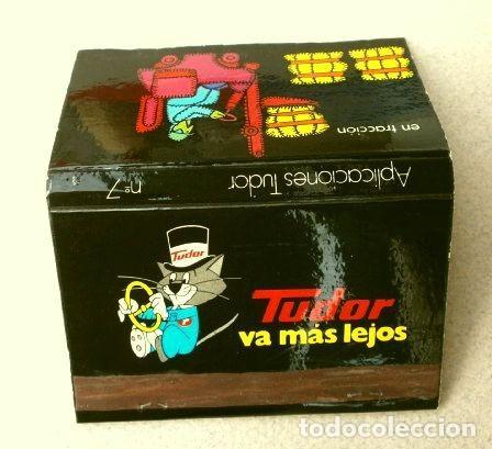 Cajas de Cerillas: Caja de cerillas - Publicidad - TUDOR (Años 70) Tudor va más lejos - Baterias - Foto 3 - 186435195