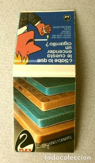 CAJA DE CERILLAS - PUBLICIDAD - FLEX (AÑOS 70) COLCHONES Y CANAPES FLEX - (Coleccionismo - Objetos para Fumar - Cajas de Cerillas)