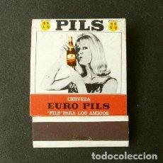 Cajas de Cerillas: CAJA DE CERILLAS - PUBLICIDAD - PILS (AÑOS 70) CERVEZAS EURO PILS (CICSA) SANTA COLOMA DE GRAMANET . Lote 186437853